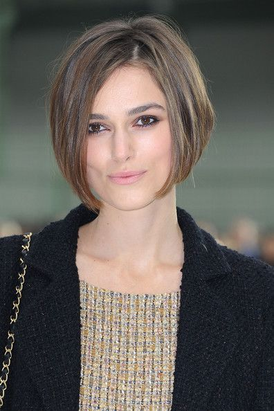 Cute: Haircuts, Keira Knightley, Celebrity Hairstyles, Bobs Hairstyles, Bob Hairstyles, Shorts Bobs, Hair Style, Lace Wigs, Chin Length