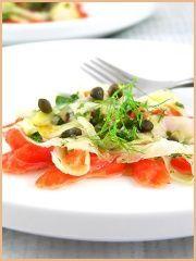 Fennel Salmon Carpaccio — Carpaccio de saumon et fenouil | La Tartine Gourmande
