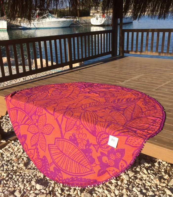 Round towel by summerforever.ca, beach towels, perfect for the beach, pool, spa, bath, picnics. summer forever
