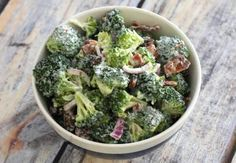 Fresh Broccoli Salad with Sweet and Tangy Mayo Dressing: Broccoli Salad With Raisins and Bacon