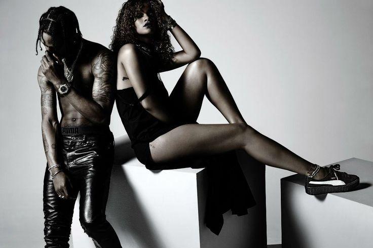 Image of Travi$ Scott Appears In Rihanna's New Puma Ad