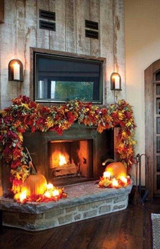 +28 Elegant Fireplace Makeover For Fall Home Decor