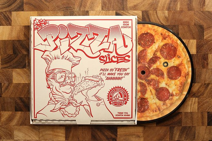 "Image of Fresh Pizza Slices - 7"" Vinyl Record"