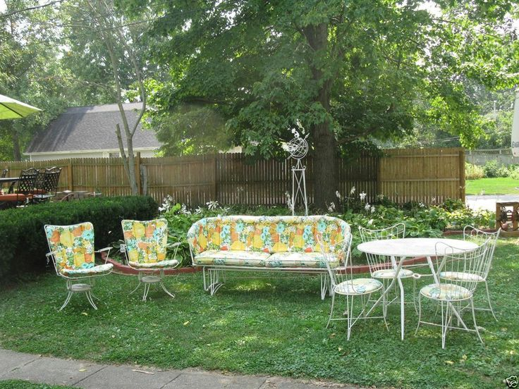 Homecrest Patio Furniture 8 Set Vintage Collectible Glider Chairs Table Rocke