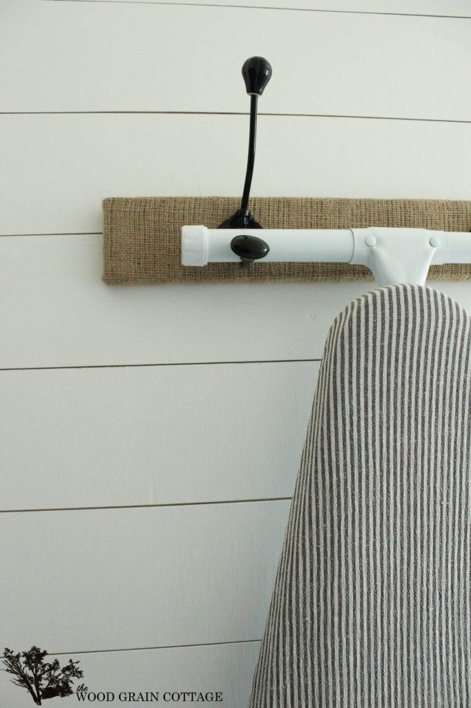 Great idea for the ironing board. The Wood Grain Cottage