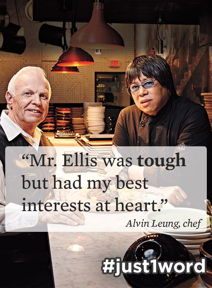 "Happy World Teachers' Day! Michelin-starred chef Alvin Leung dishes on the teacher who helped him substitute his shyness for a savoury sense of humour. ""There were times when Mr. Ellis was tough on me when I needed it. But I always felt that he had my interests at heart."" #just1word #worldteachersday"