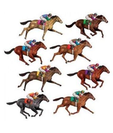 Melbourne Cup Race Horse Cutouts | PARTY SUPPLIES