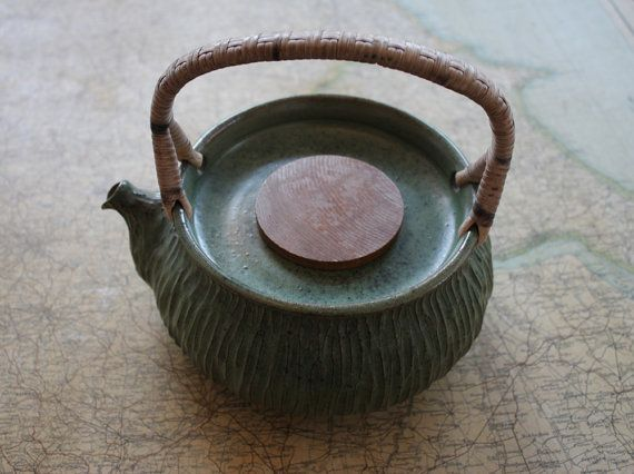 Vintage 1950s Larholm Studio Norwegian Stoneware Tea Pot Art Pottery