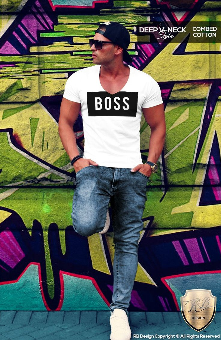 BOSS Men's White T-shirt Wording Fitness Gym Tank Top MD024
