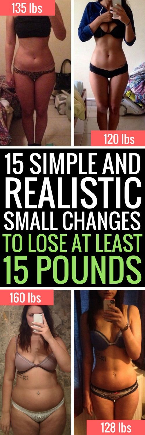 15 tiny changes to lose at least 15 pounds in 2 weeks.