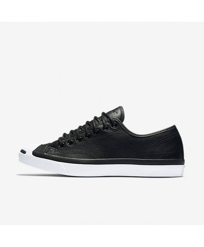 a10690276e63 Converse Jack Purcell Tumbled Leather Low Top Black 147574C-001 ...