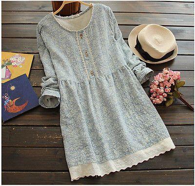 Long Sleeve Cotton Floral Mini Dress Pregnant Women New Fashion Maternity Dress
