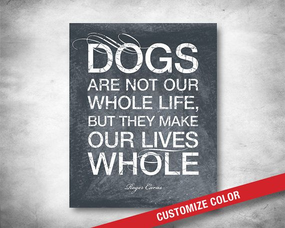 Dog Lover Quote  Dog Decor  Dog Poem  Dog Art  by WordsToMoveYou, $20.00
