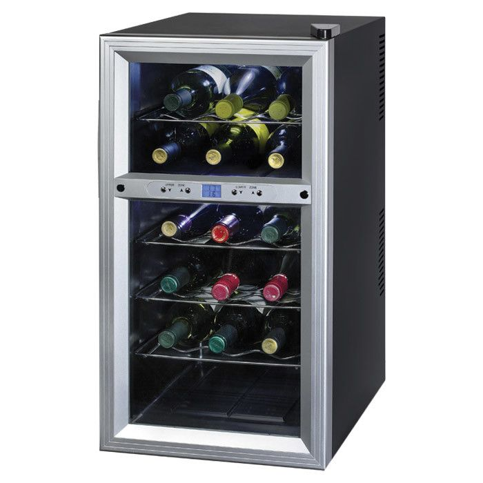 Small Wine Cellar Thermal Electric Kitchen Small Appliances Chrome Wire Storage