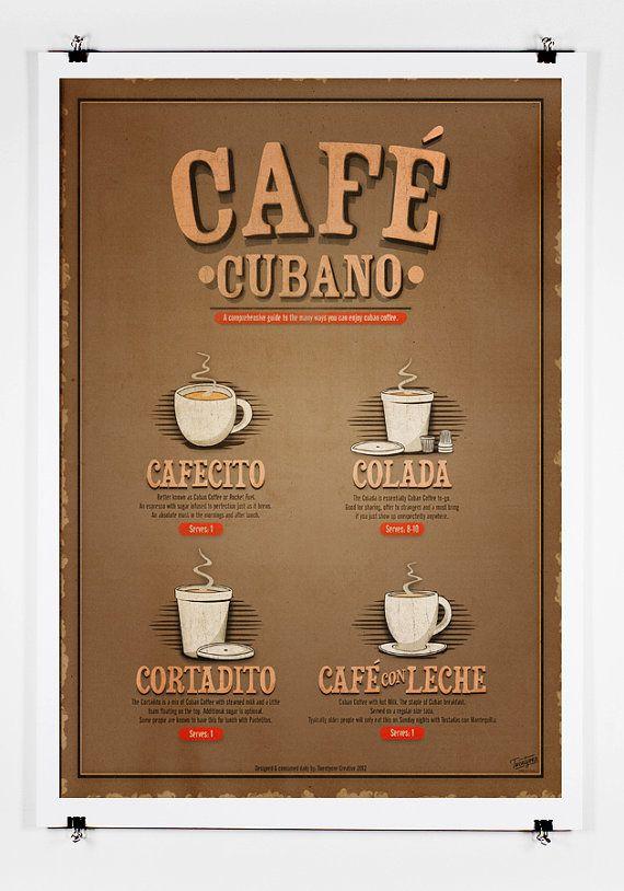 Cafe Cubano Guide Print by twenty21onecreative on Etsy, $25.00