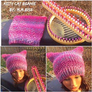 ePattern: Kitty Cat Beanie – CinDWood Looms