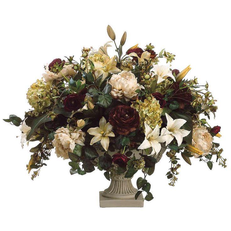 213 best silk flower arrangements images on pinterest floral artificial flower arrangements silk lily peony hydrangea and ranunculus flower arrangement mightylinksfo