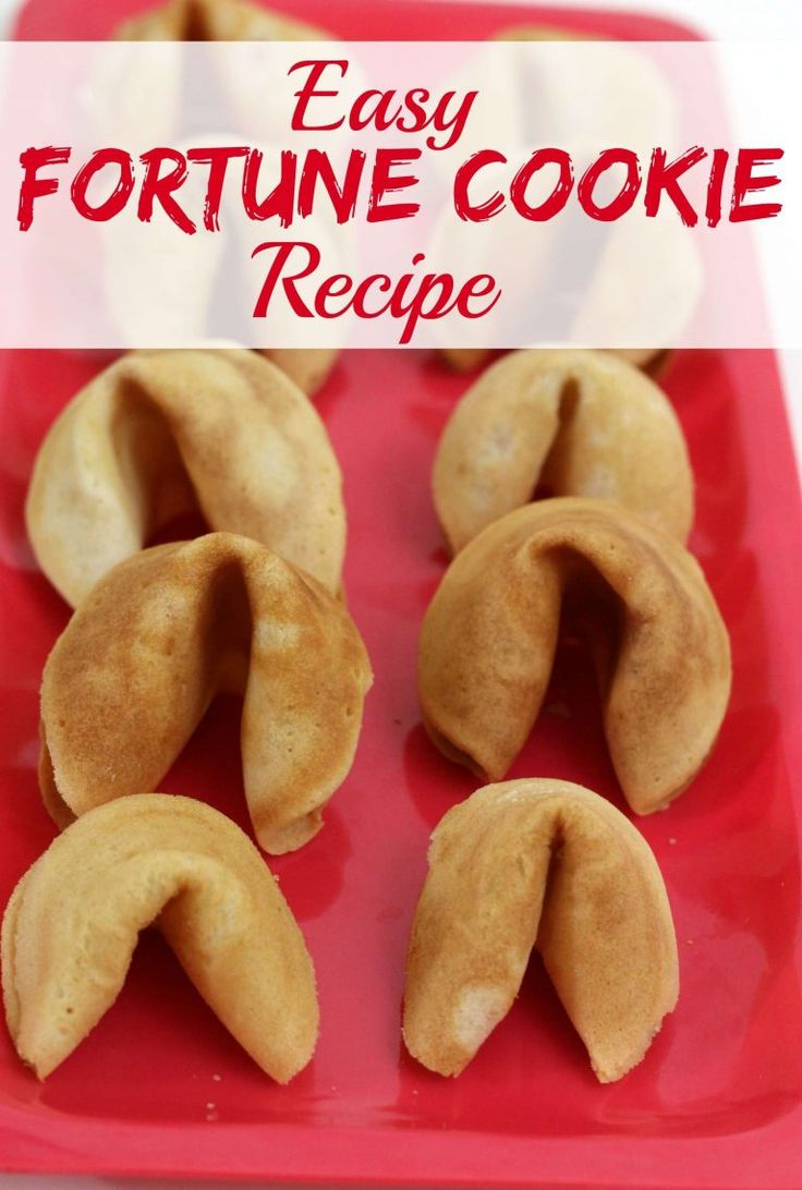 Fortune cookie recipes easy