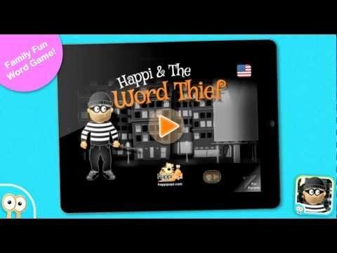 I denne app skal du finde ord i labyrinten og pusle ord sammen, inden tyven kommer. Den er lidt spændende...  App´en koster 18 kr. og kan hentes til iPad her https://itunes.apple.com/us/app/happi-the-word-thief/id564625874?mt=8