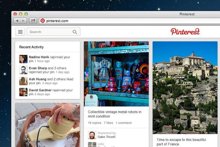 Pinterest New Design
