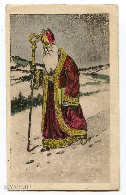 Święty Mikołaj Santa Claus Postcard