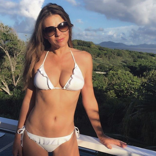 You'll Be Wondering How Elizabeth Hurley Is Really 50 When You See Her Latest Bikini Pictures