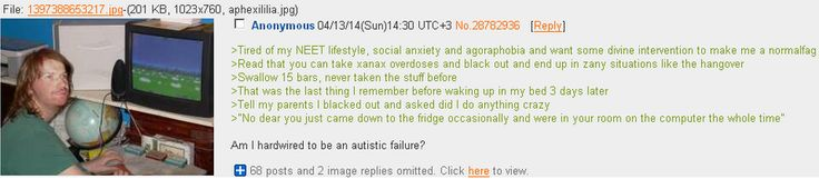 """Anon is genetically a NEET"" - story from 4chan"
