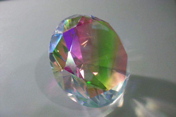 Rainbow Crystal Diamond Multi Colored Crystal Glass