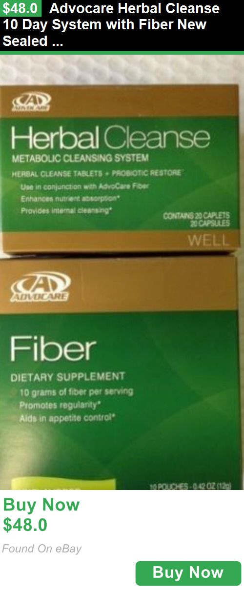 Detox and Cleansers 159731: Advocare Herbal Cleanse 10 Day System With Fiber New Sealed Choose A Flavor BUY IT NOW ONLY: $48.0