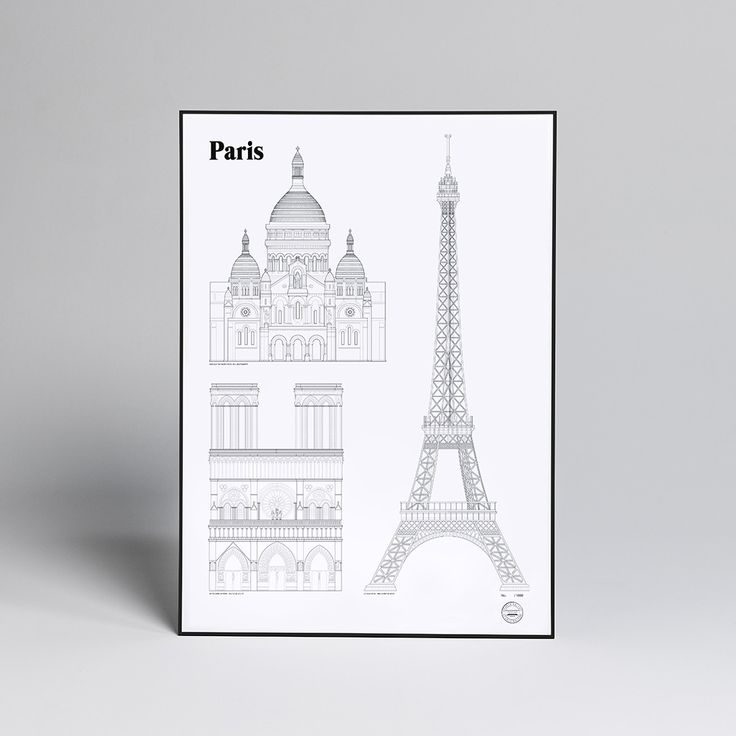 Studio Esinam Paris Landmark Poster