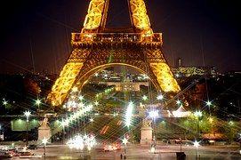 Torre Eiffel, Noche, Estrellas, Parpadeo