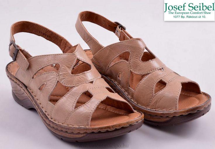 Josef Seibel női bézs színű szandál, finom bőrből készült és 4 cm-es sarokkal rendelkezik!  http://valentinacipo.hu/josef-seibel/noi/bezs/szandal/142650940  #josef_seibel #Josef_Seibel_webshop #női_szandál