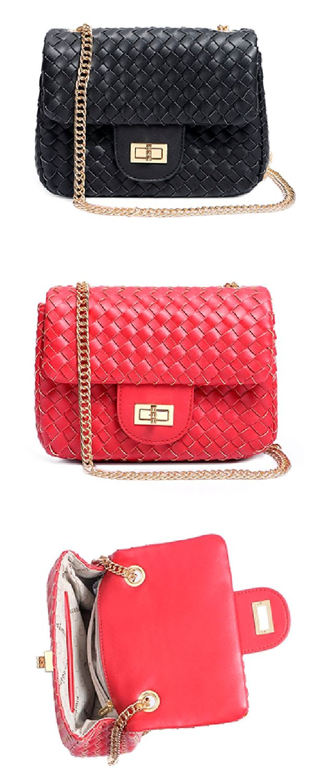 ae12392f0a1e3 Bolsa Pequena Tiracolo Feminina Macadamia Original Débora de Festa Alca  Corrente Vermelha Preta bolsas femininas bolsa feminina bols…