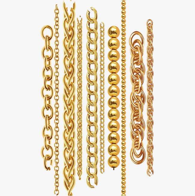 Vector Gold Chain Vector Diagram Chain Gold Chain Png Transparent Clipart Image And Psd File For Free Download Gold Chain Design Jewelry Design Drawing Gold Chains