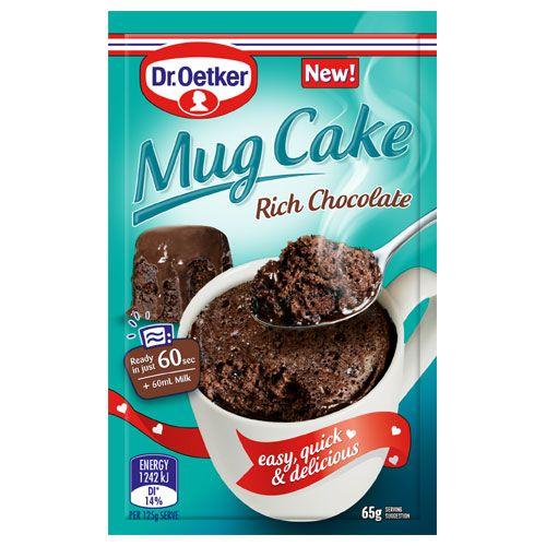 Check out dr oetker mug cake cake mix rich chocolate 65g at countdown.co.nz. Order 24/7 at our online supermarket