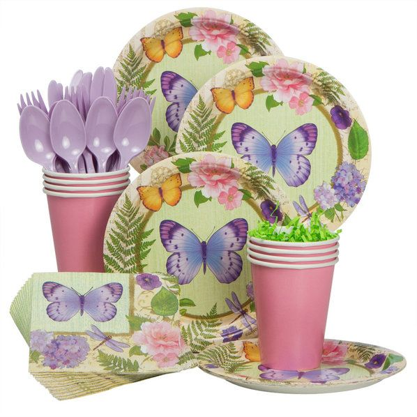 Check out Spring Fling Standard Kit - Low Priced Birthday Themed Tableware from Wholesale Party Supplies
