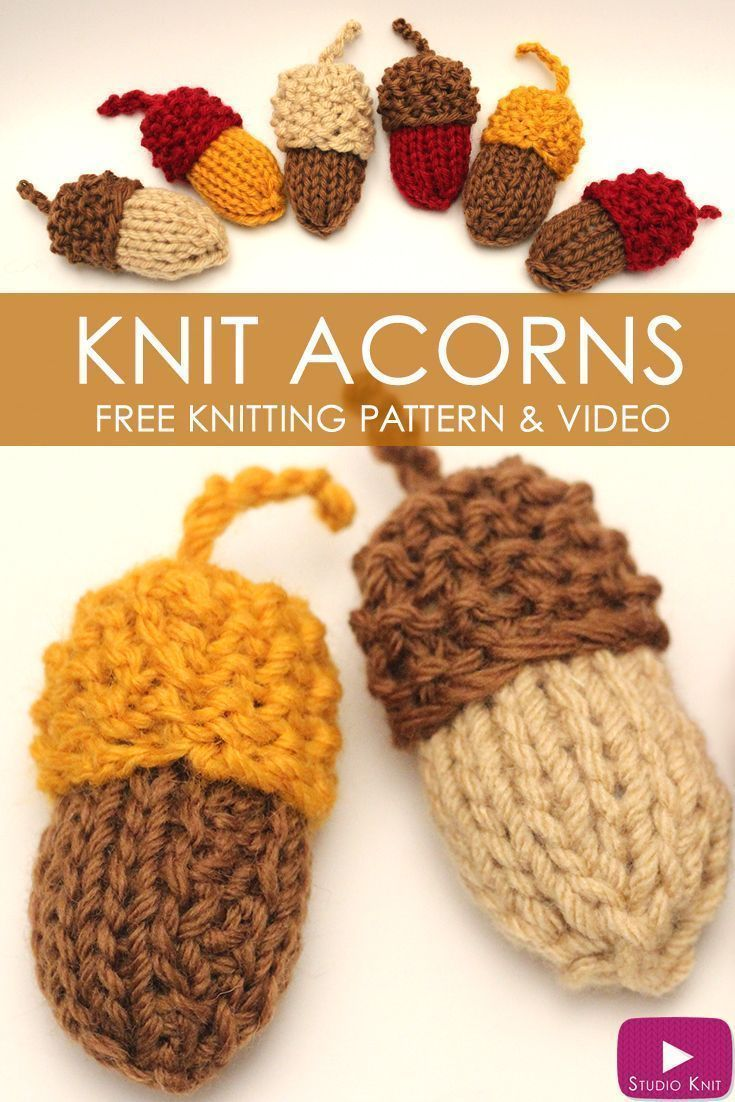 1285 best knitting patterns images on pinterest crochet shoes how to knit acorns bankloansurffo Gallery