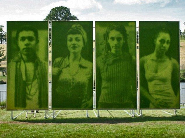 British artists Heather Ackroyd and Dan Harvey make potraits out of grass