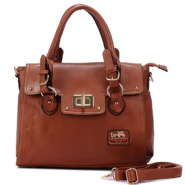 Coach Sadie Flap In Spectator Medium Brown Satchels AOI #ShopDesigner