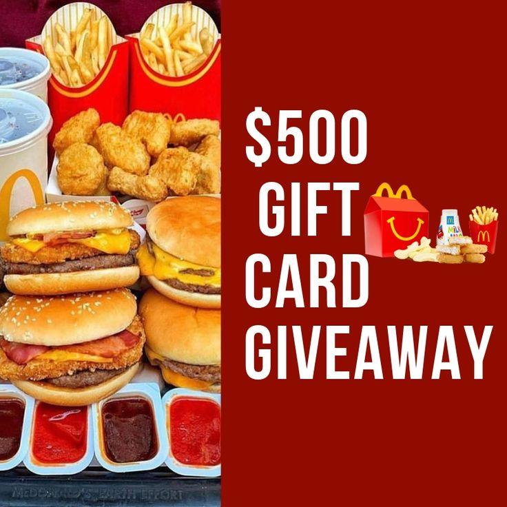 Get a 500 mcdonalds gift card mcdonalds gift card
