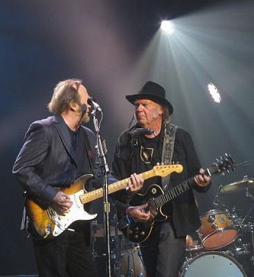 Neil Young News: Photo of the Moment: Stephen Stills & Neil Young @ Light Up The Blues Benefit, 2015-04-25 + PODCAST: Thrasher's Wheat Radio