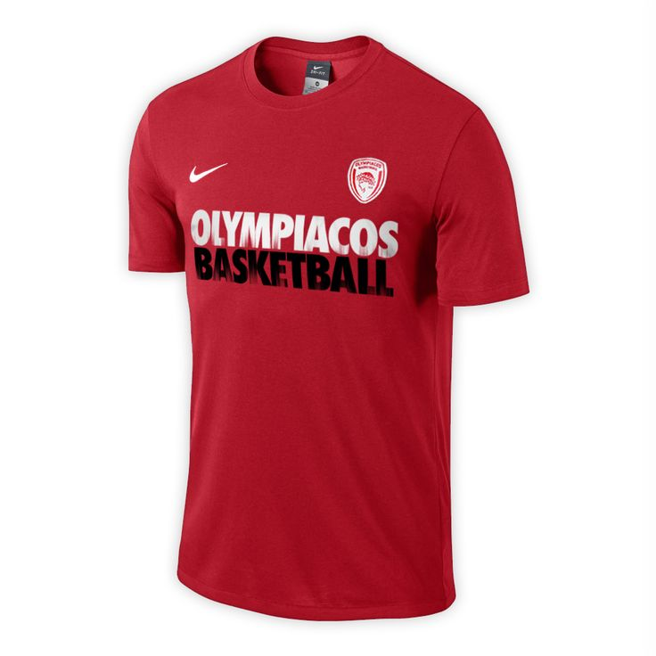 T-Shirt Nike Olympiacos Basketball Practice Tee Man - Red