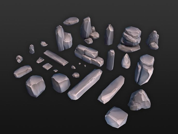 """GameDevZombie on Twitter: """"Here's some low poly rocks I made. Actually, sculpting ain't too bad. :)) #gamedev #ue4 #unity3d http://t.co/ZgAgRZE4Re"""""""