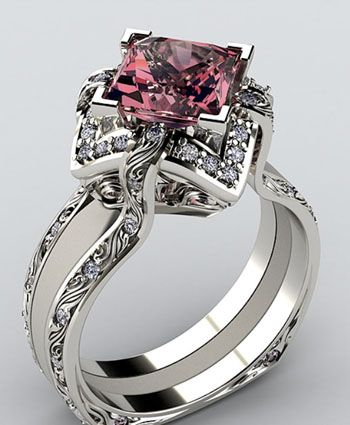 beautiful!!! I don't know if I could pull this off for an engagement ring though... Gorgeous either way!!!