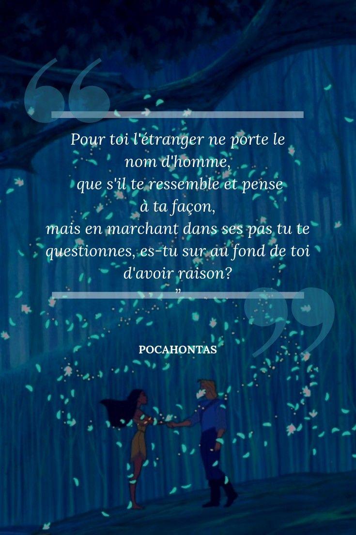 Citations Disney Pocahontas 1995 Tolérance Et Diversité
