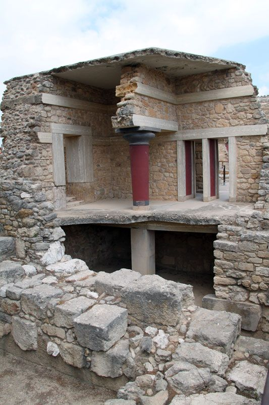 Knossos Palace Remains, Crete, Greece