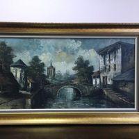 Большая картина 76 000 p. Красивая большая картина,Размер: 141x82cm Масло. 1950-годы. Художник ХУДСОН, Голландия. Отправляем транспортной компанией в любой город.