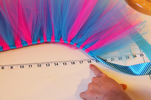 ribbon tutu measurements. REALLY CLEAR INSTRUCTIONS. Tip for quickly cutting enough tulle strips