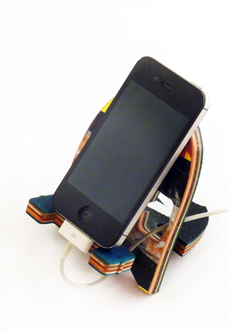 Skateboard Phone Dock - SkateDock - Cell Phone Charging Station made from Recycled Skateboards by Deckstool. Skateboarder gift, Ipod Stand by SkateOrDesign on Etsy https://www.etsy.com/listing/258050114/skateboard-phone-dock-skatedock-cell