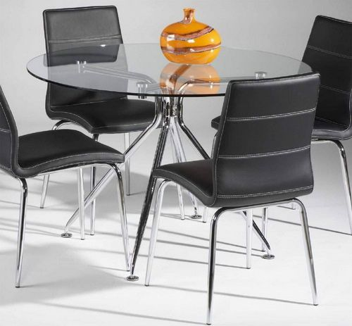 Cheap Glass Dining Sets: Round Dining Table Glass For 4 Cheap Glass Round Dining